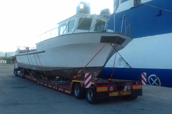 Trasporto eccezionale imbarcazione a Marghera